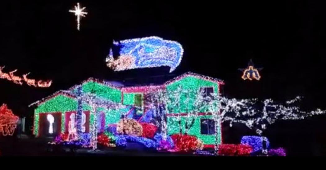 Seahawks Christmas Lights.Christmas Light Show